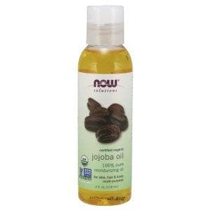 Now Foods, Solutions, Certified Organic, Jojoba Oil, 4 fl oz (118 ml) - BeeGreen
