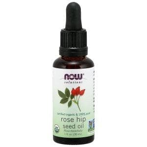 Now Foods, Solutions, Certified Organic Rose Hip Seed Oil, 1 fl oz (30 ml) - BeeGreen