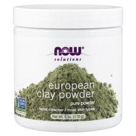 Now Foods, Solutions, European Clay Powder, 6 oz (170 g) - BeeGreen
