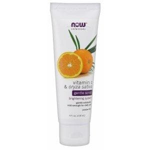 Now Foods, Solutions, Gentle Scrub, Vitamin C & Oryza Sativa, 4 fl oz (118 ml) - BeeGreen