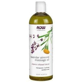 Now Foods, Solutions, Lavender Almond Massage Oil, 16 fl oz (473 ml) - BeeGreen