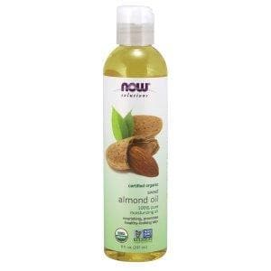 Now Foods, Solutions, Organic Sweet Almond Oil, 8 fl oz (237 ml) - BeeGreen