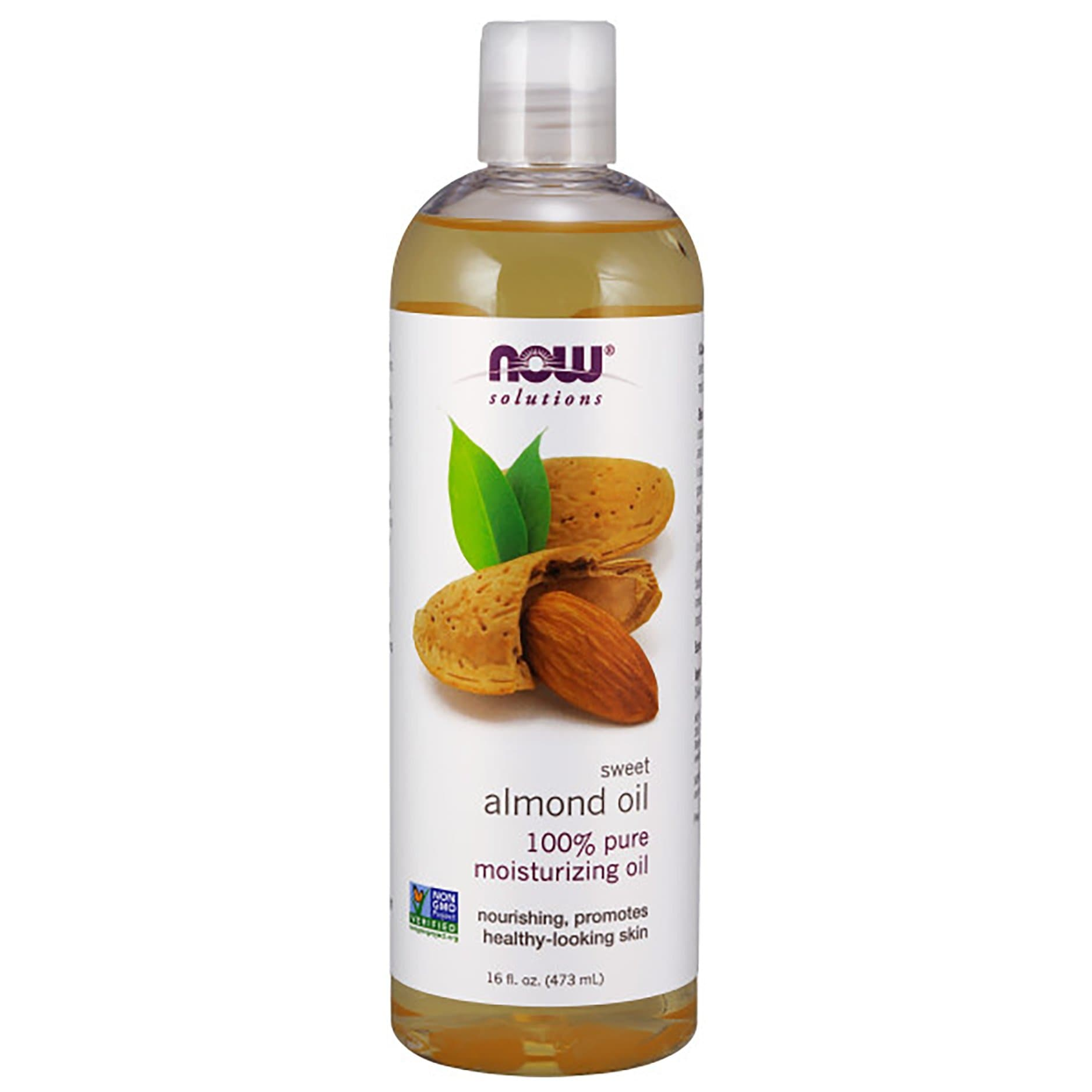 Now Foods, Solutions, Sweet Almond Oil, 16 fl oz (473 ml) - BeeGreen