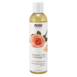Now Foods, Solutions, Tranquil Rose Massage Oil, 8 fl oz (237 ml) - BeeGreen