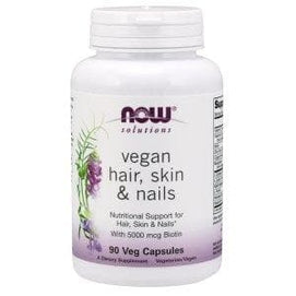 Now Foods, Solutions, Vegan Hair Skin & Nails, 90 Veg Capsules - BeeGreen