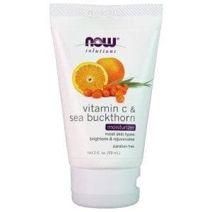 Now Foods, Solutions, Vitamin C & Sea Buckthorn Moisturizer, 2 fl oz (59 ml) - BeeGreen