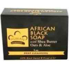 Nubian Heritage African Black Soap (1x5OZ ) - BeeGreen