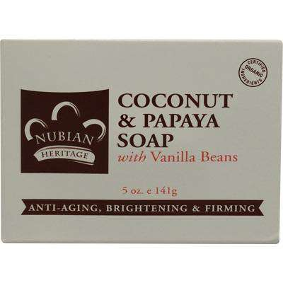 Nubian Heritage Coconut Papaya Soap (1x5OZ ) - BeeGreen