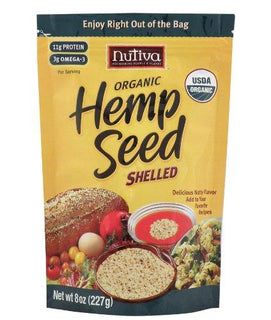 Nutiva Shelled Hempseed ( 1x8 Oz) - BeeGreen