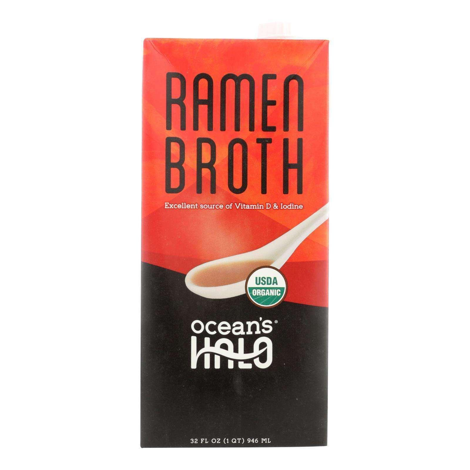 Ocean's Halo Broth Ramen - Case Of 6 - 32 Fz - BeeGreen