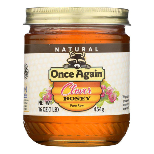 Once Again Clover Honey, Pure Raw Grade A - Case Of 6 - 1 Lb - BeeGreen