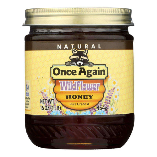 Once Again Wildflower Honey, Pure Raw - Case Of 6 - 1 Lb - BeeGreen