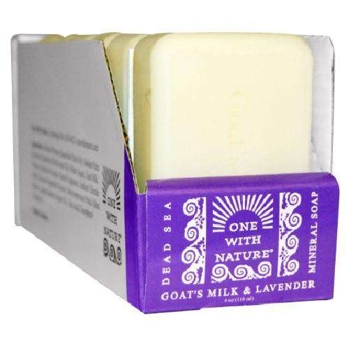 One With Nature O.W.N. Dead Sea Mineral Soap, Goat'S Milk & Lavender (6X4 OZ) - BeeGreen