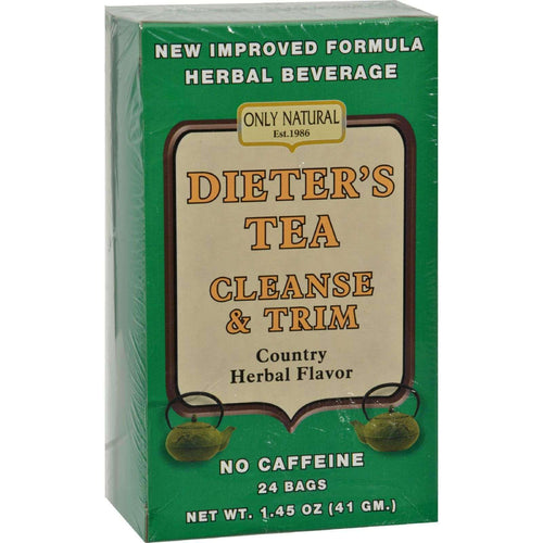 Only Natural Dieter's Tea Cleanse And Trim Country Herbal - 24 Tea Bags - BeeGreen
