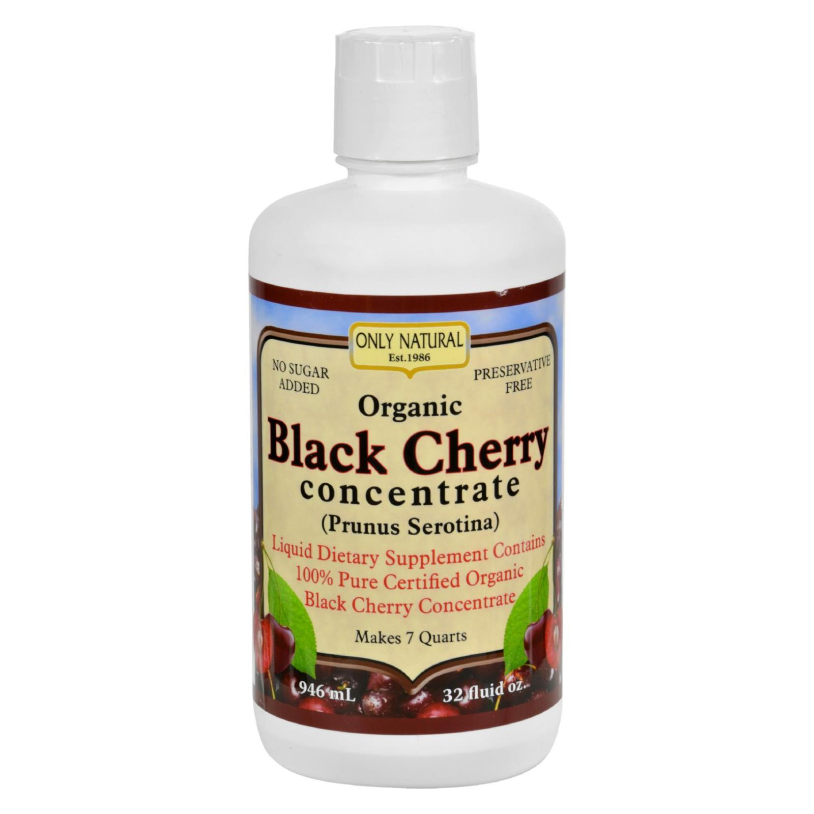Only Natural Organic Black Cherry Concentrate - 32 Fl Oz - BeeGreen