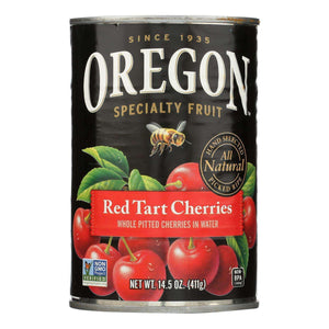 Oregon Fruit Red Tart Cherries In Water - Case Of 8 - 14.5 Oz. - BeeGreen