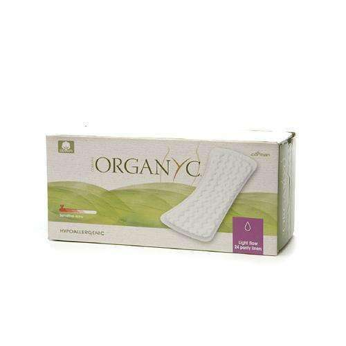 Organyc Cotton Flat Panty Liners - 24 Pack - BeeGreen