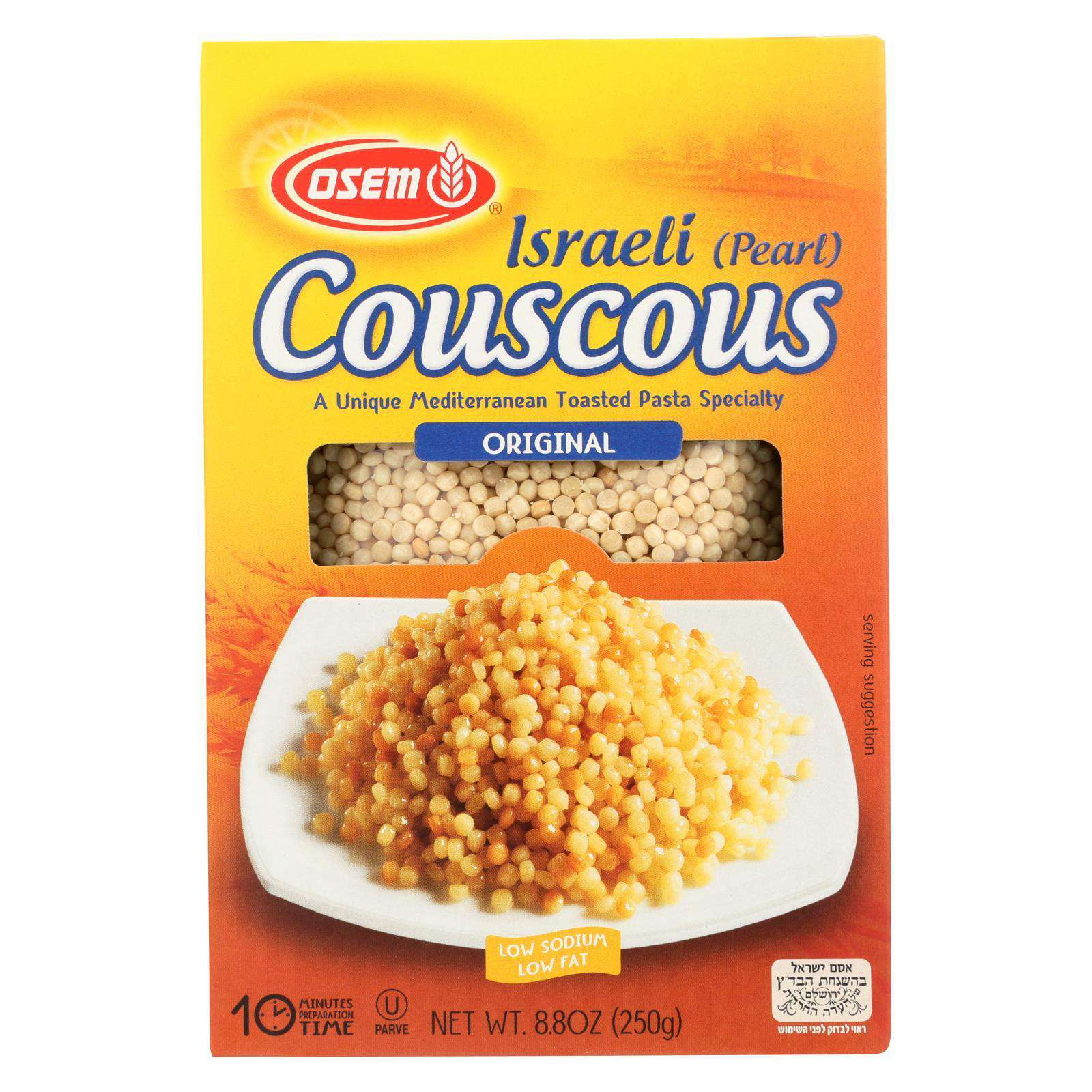 Osem Couscous - Israeli - Case Of 12 - 8.8 Oz. - BeeGreen