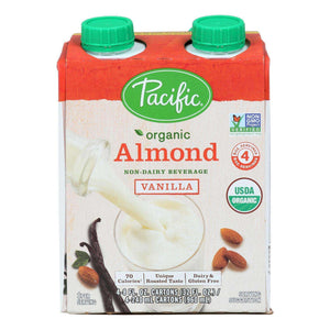 Pacific Natural Foods Almond Vanilla - Roasted - Case Of 6 - 8 Fl Oz. - BeeGreen