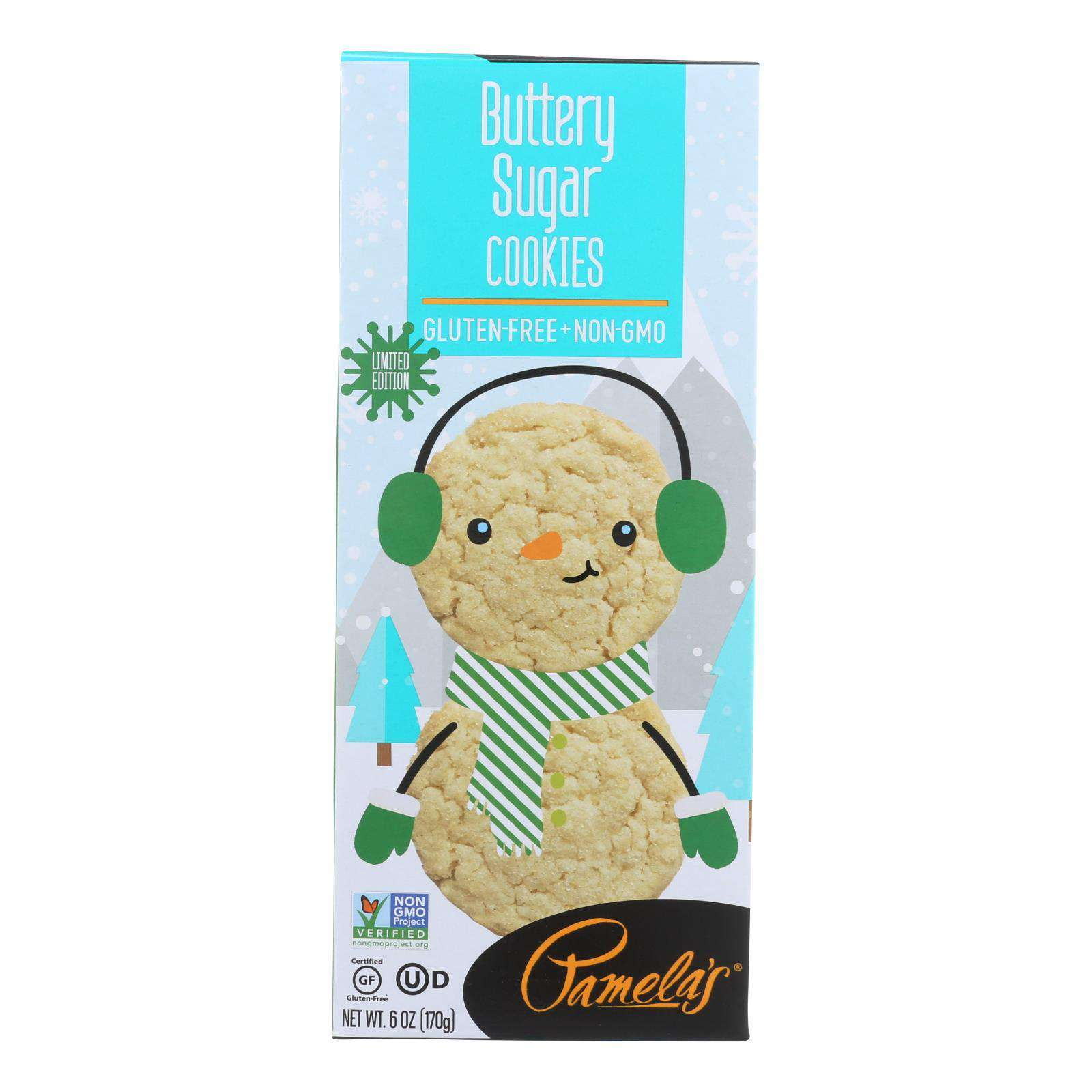 Pamela's Products - Limited Edition Cookies - Buttery Sugar Cookies - Case Of 6 - 6 Oz. - BeeGreen