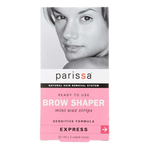 Parissa Natural Hair Removal System Brow Shaper - 32 Strips - BeeGreen