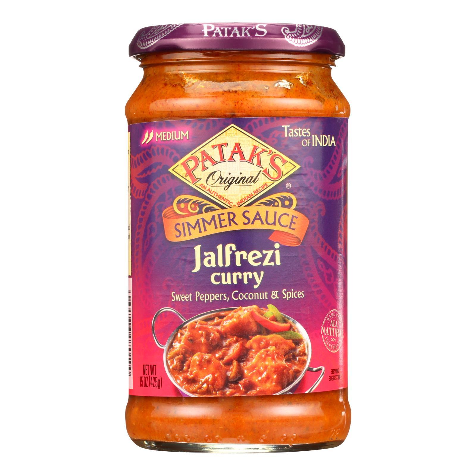 Pataks Simmer Sauce - Jalfrezi Curry - Medium - 15 Oz - Case Of 6 - BeeGreen