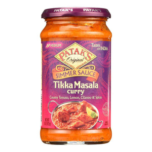 Pataks Simmer Sauce - Tikka Masala Curry - Medium - 15 Oz - Case Of 6 - BeeGreen