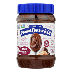 Peanut Butter And Co Peanut Butter - Dark Chocolate Dreams - Case Of 6 - 16 Oz. - BeeGreen