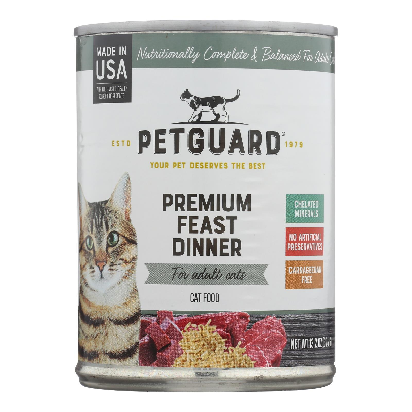 Petguard Cats Premium Feast Dinner - Case Of 12 - 13.2 Oz. - BeeGreen