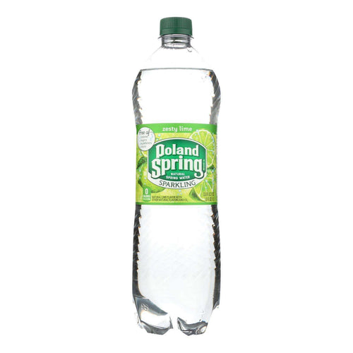 Poland Spring Sparkling Water - Lime - Case Of 12 - 33.8 Fl Oz. - BeeGreen