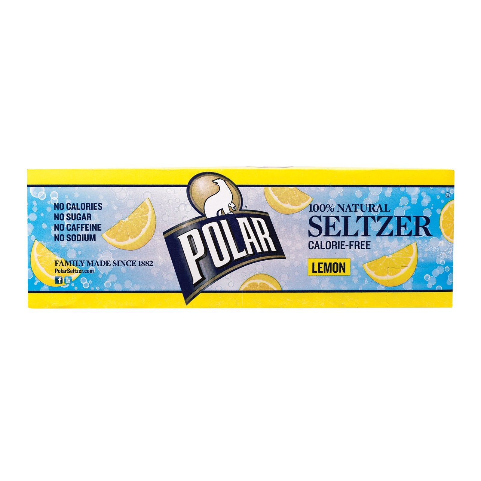 Polar Beverages Seltzer - Lemon - 12 Pk - 12-12 Fl Oz - BeeGreen