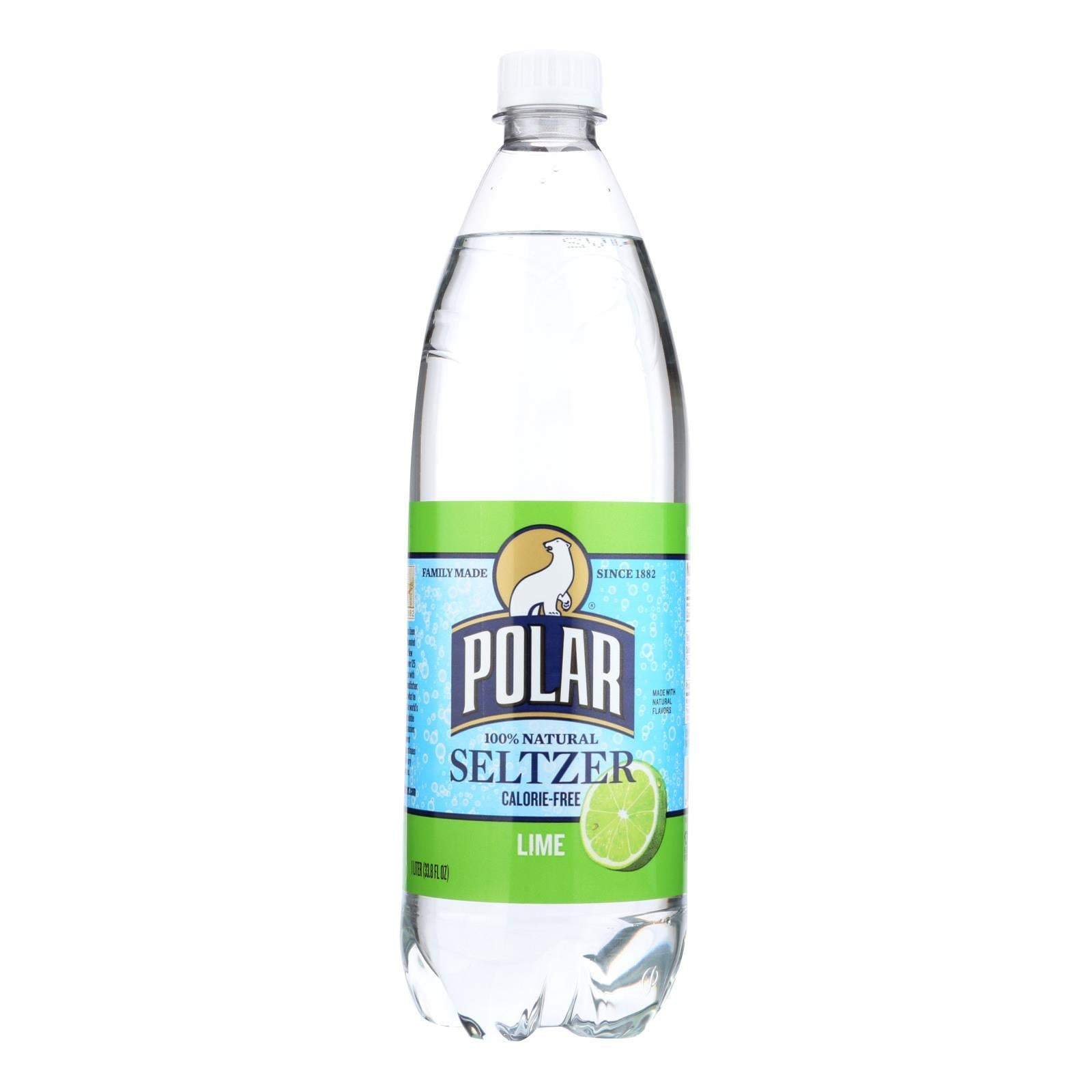 Polar Beverages Seltzer - Lime - Case Of 12 - 33.8 Fl Oz - BeeGreen