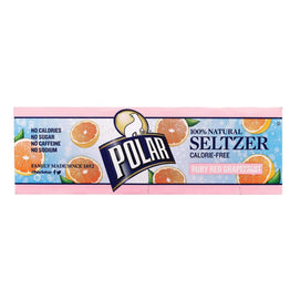 Polar Beverages Soda - Grapefruit - Seltzer - 12-12 Fl Oz - BeeGreen