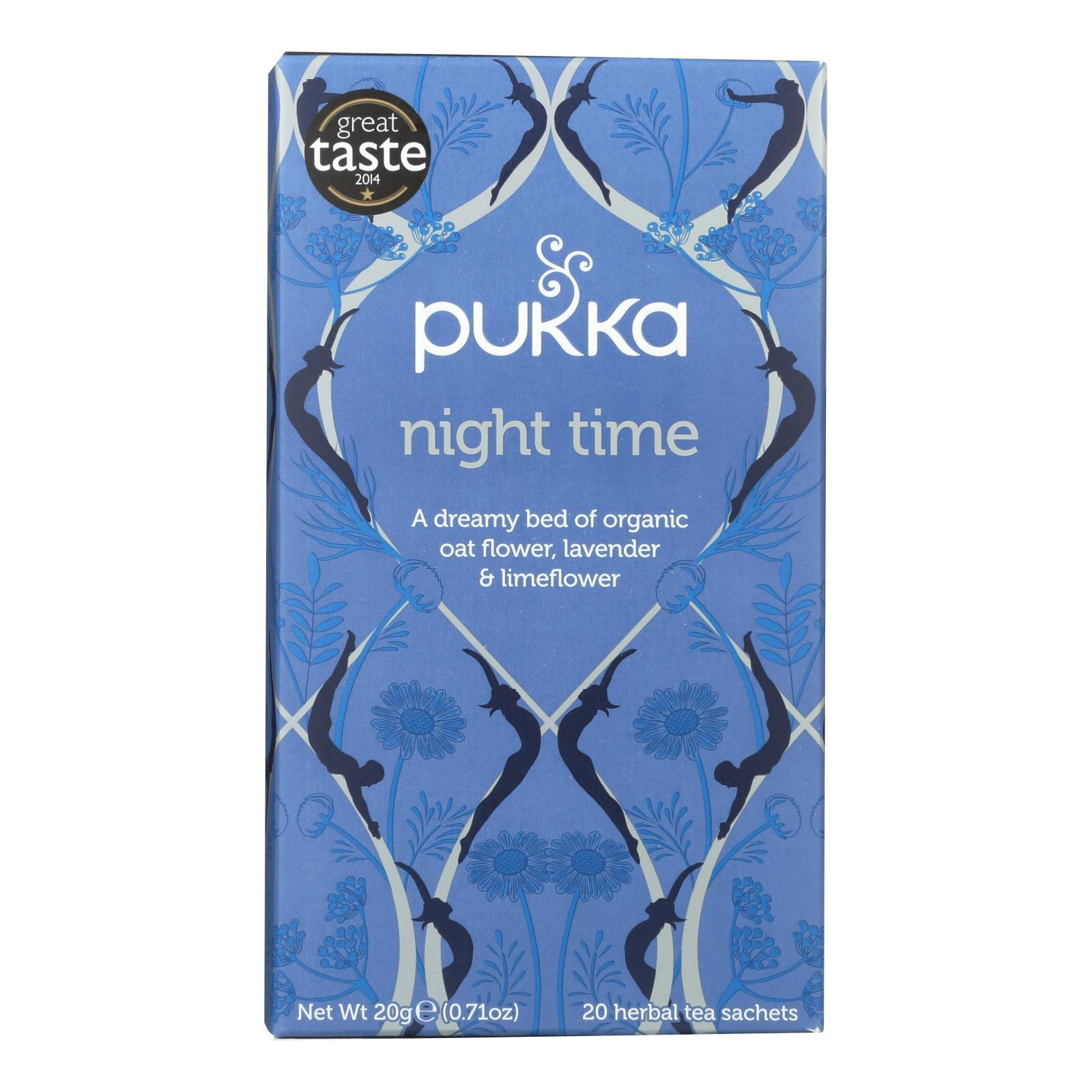 Pukka Herbal Teas Tea - Organic - Night Time - 20 Bags - Case Of 6 - BeeGreen
