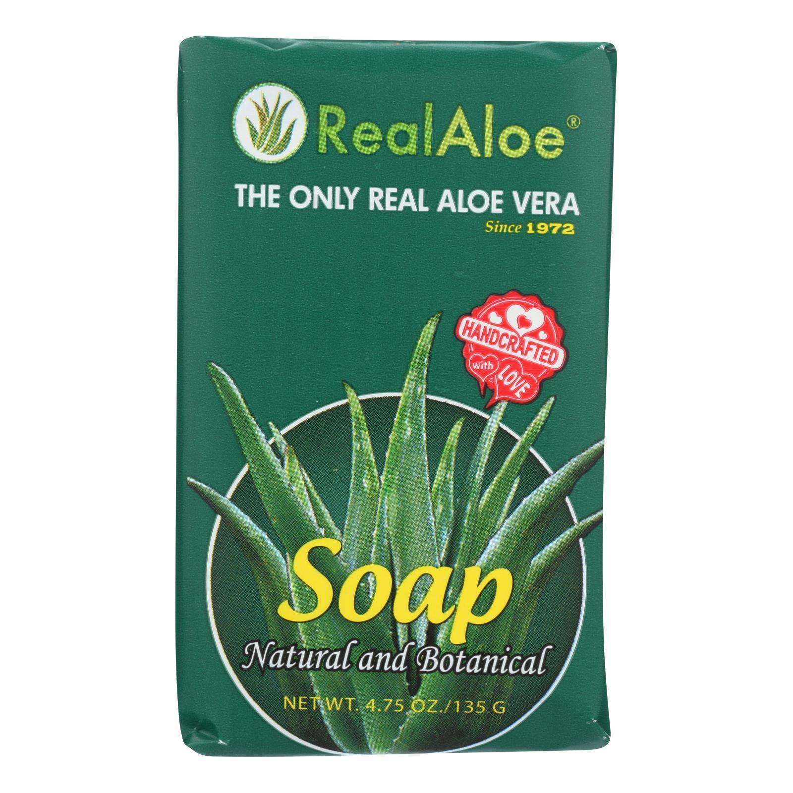 Real Aloe Aloe Vera Bar Soap - 4.75 Oz - BeeGreen
