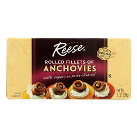 Reese Anchovies - Rolled - Case Of 10 - 2 Oz - BeeGreen
