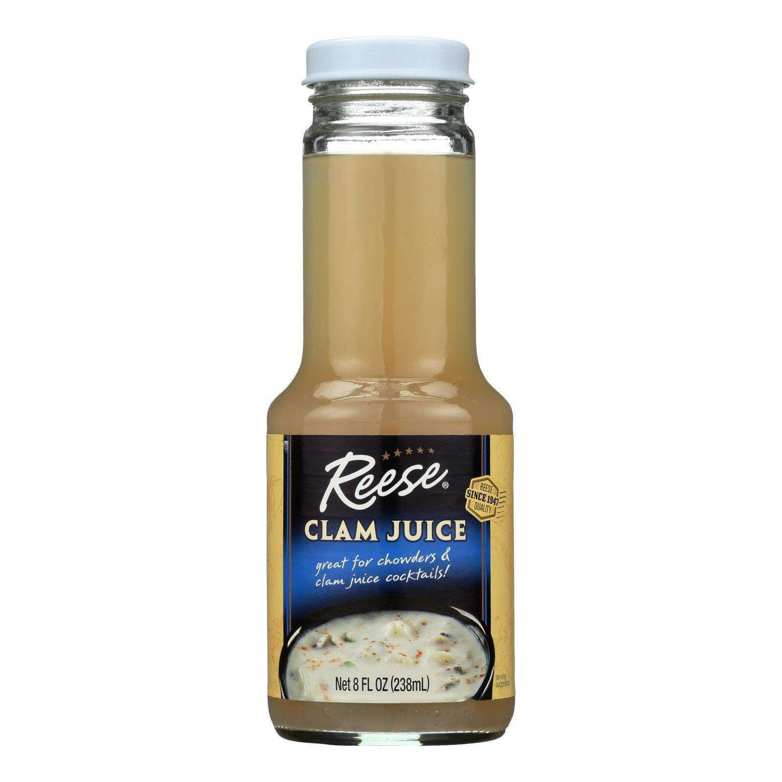 Reese Clam Juice Bottle - Case Of 6 - 8 Fl Oz. - BeeGreen