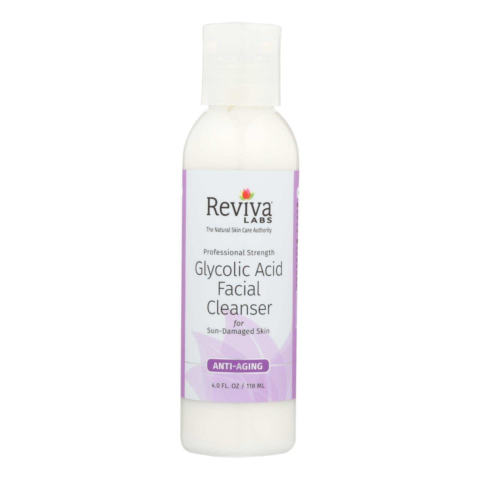 Reviva Labs - Glycolic Acid Facial Cleanser - 4 Fl Oz - BeeGreen