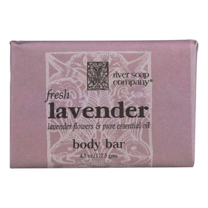 River Soap Company Soap - Fresh Lavender Bar - 4.5 Oz. - BeeGreen