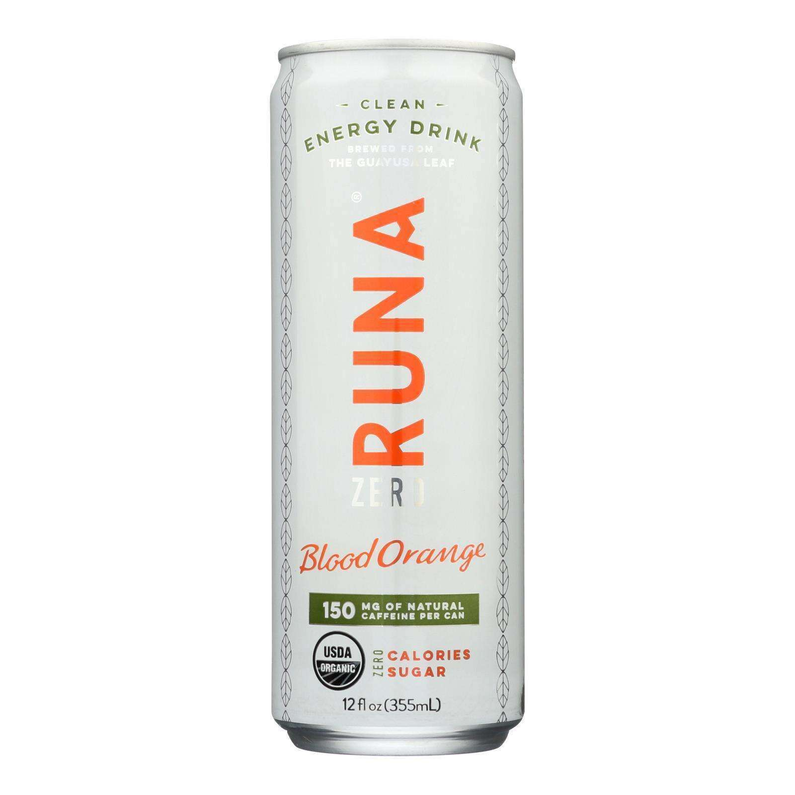 Runa - Drink Bld Orng Rtd Can - Case Of 12-12 Fz - BeeGreen