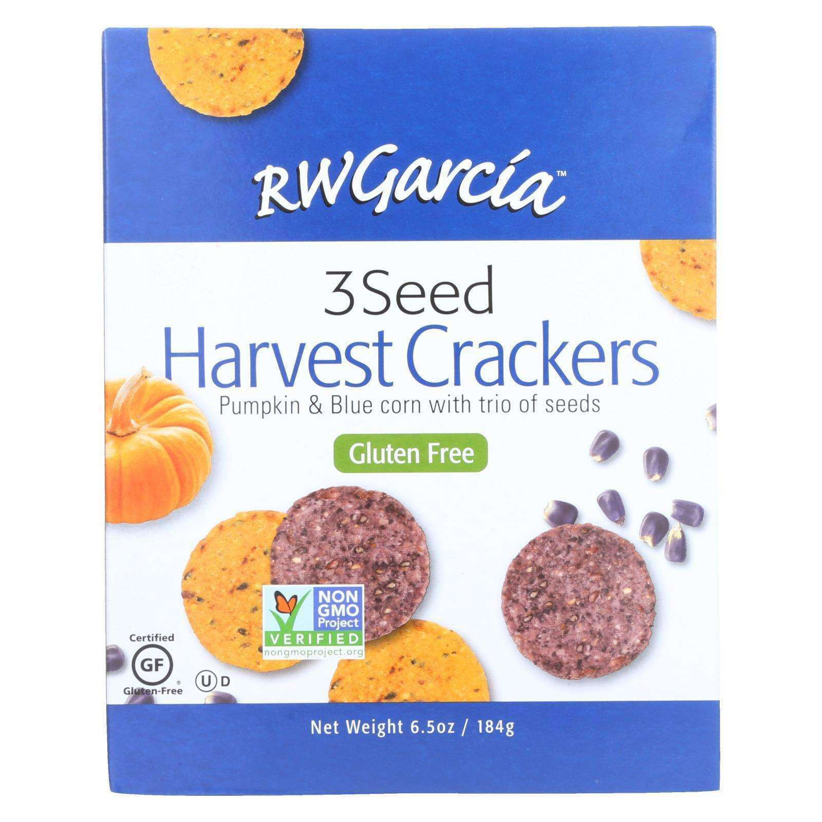 R.w. Garcia 3 Seed Harvest Crackers - Case Of 6 - 6.5 Oz - BeeGreen