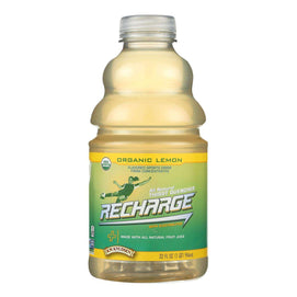 Rw Knudsen Pet Recharge Organic Lemon Juice - Case Of 6 - 32 Fz - BeeGreen