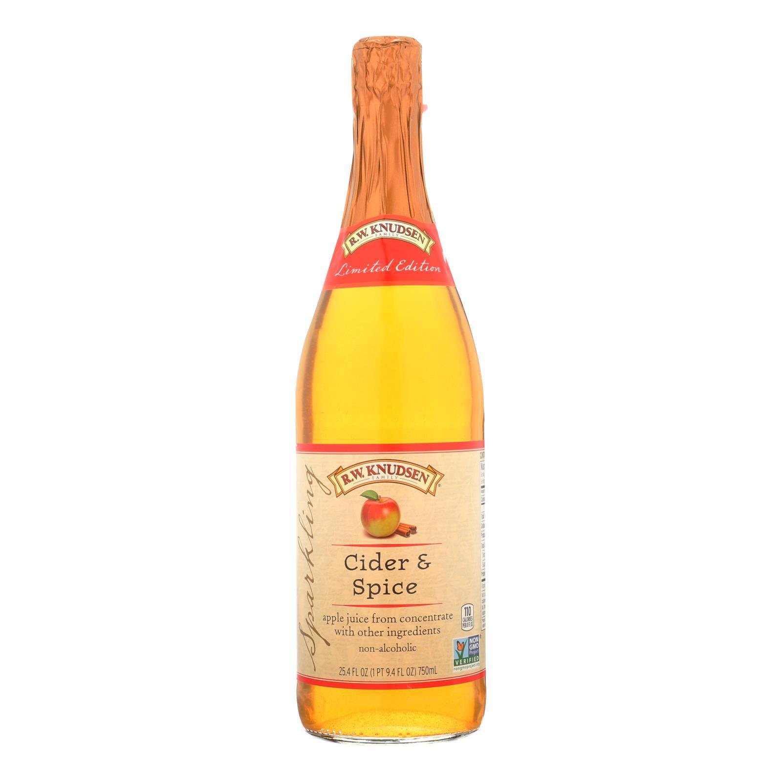 R.w. Knudsen - Sparkling Juice - Cider And Spice - Case Of 12 - 25.4 Fl Oz. - BeeGreen