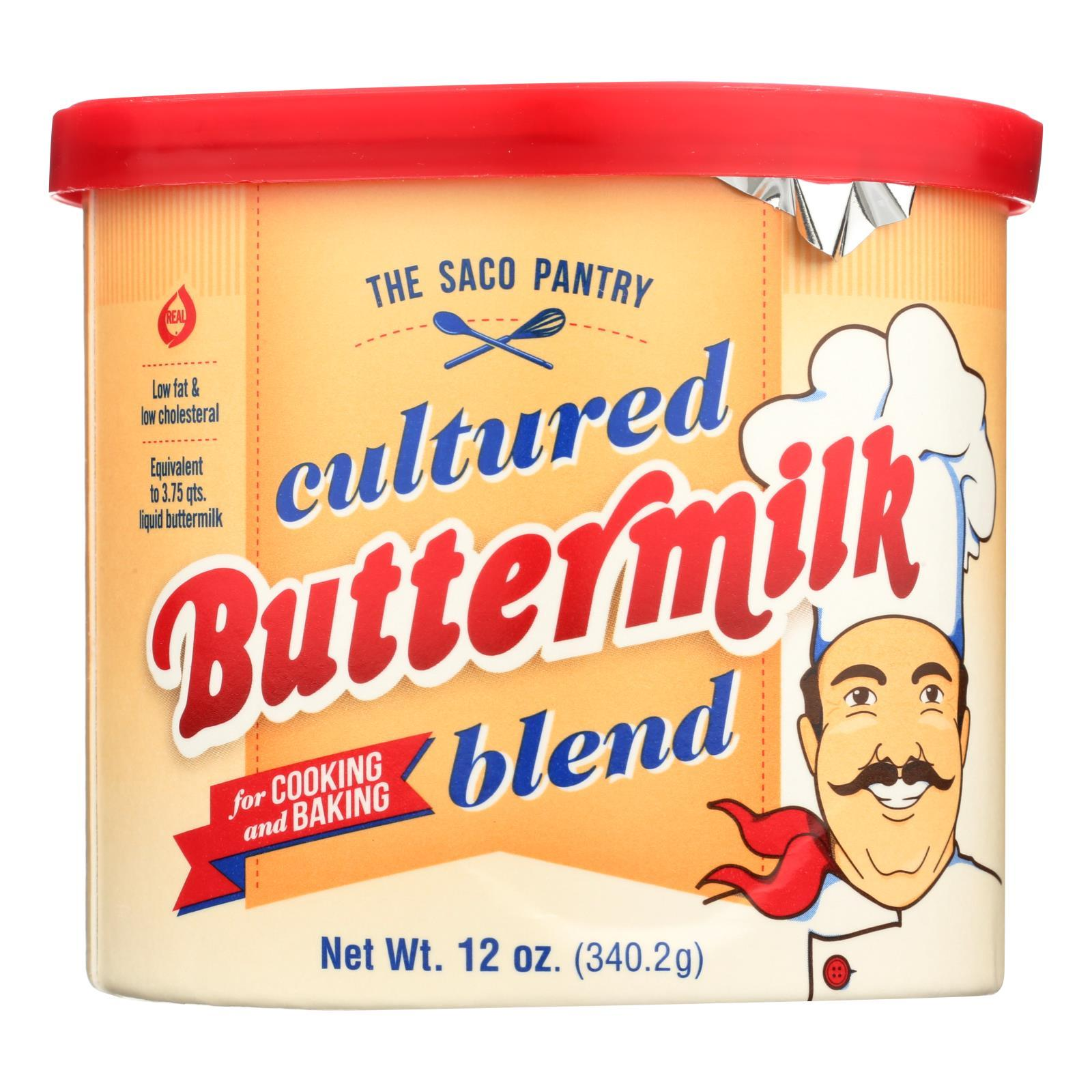 Saco Foods Buttermilk Powder Blend - Cultured - 12 Oz - Case Of 12 - BeeGreen
