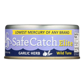 Safe Catch Elite Wild Tuna - Garlic Herb - Case Of 6 - 5 Oz - BeeGreen