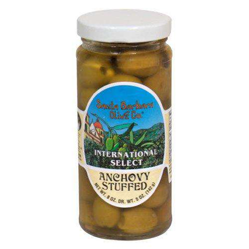 Santa Barbara Olive Co. Anchovy Stuffed Olives (6x5 Oz) - BeeGreen
