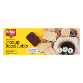 Schar Chocolate Dipped Cookies Gluten Free - Case Of 12 - 5.3 Oz. - BeeGreen