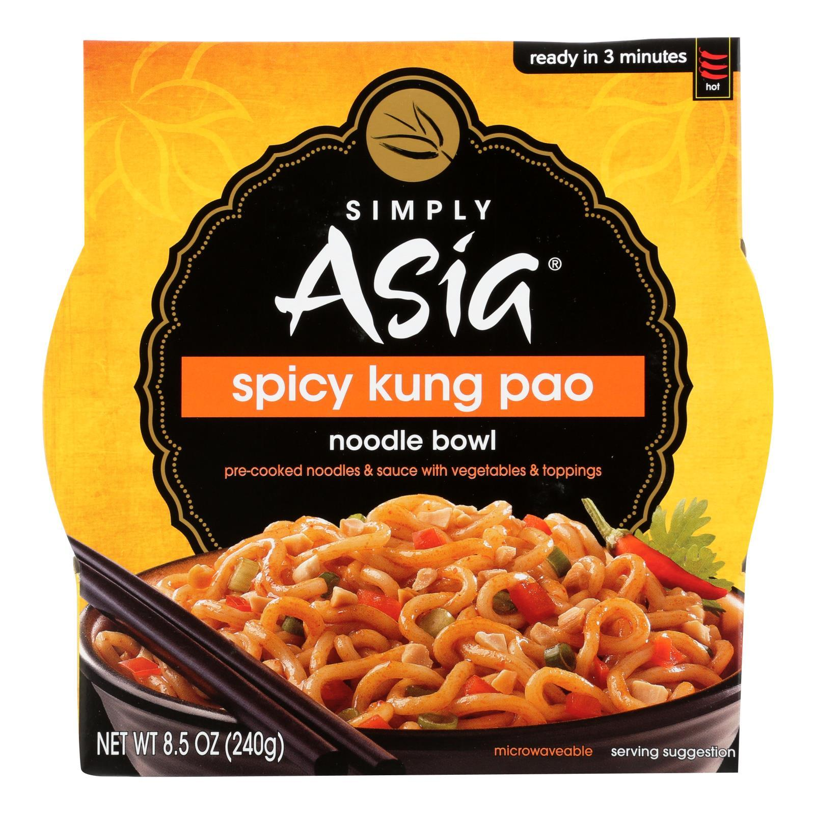 Simply Asia Noodle Bowl - Spicy Kung Pao - Case Of 6 - 8.5 Oz. - BeeGreen