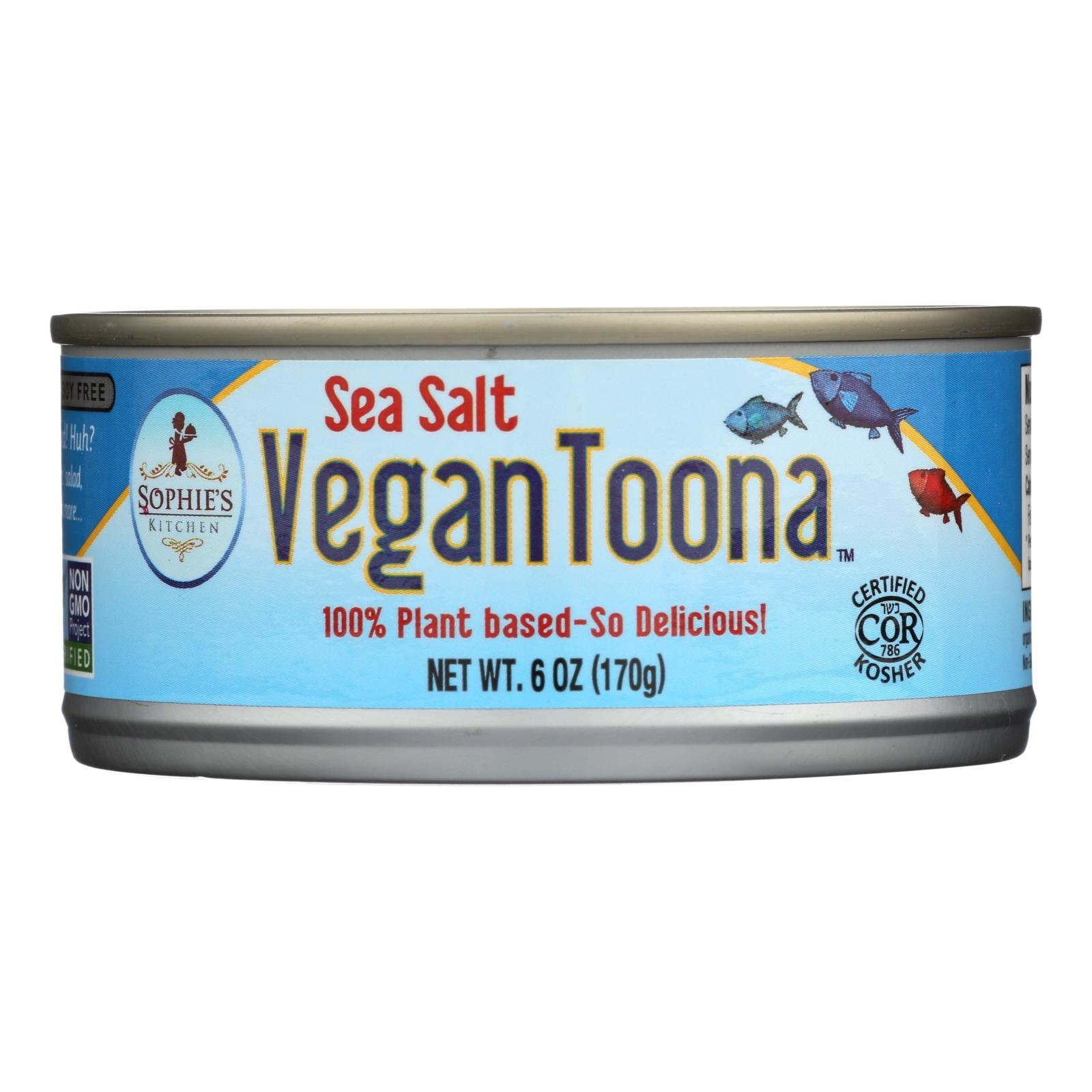 Sophie's Kitchen Vegan Toona - Sea Salt - Case Of 12 - 6 Oz. - BeeGreen