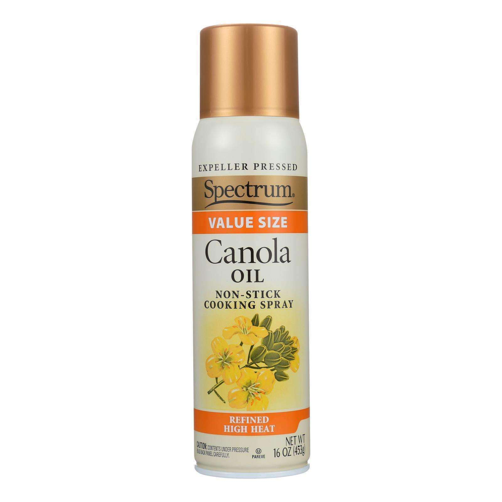 Spectrum Naturals High Heat Canola Spray Oil - Case Of 6 - 16 Fl Oz. - BeeGreen
